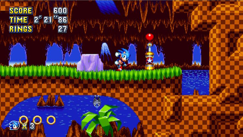 Capture d'écran Sonic Mania