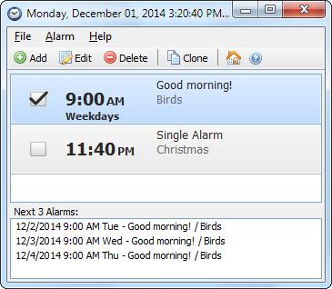 Capture d'écran Free Alarm Clock Portable