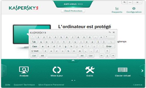 Capture d'écran Kaspersky Antivirus 2013
