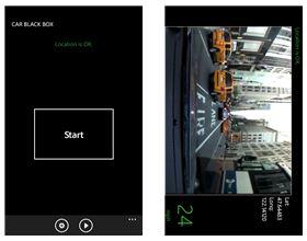 Capture d'écran CarBlackBox Windows Phone