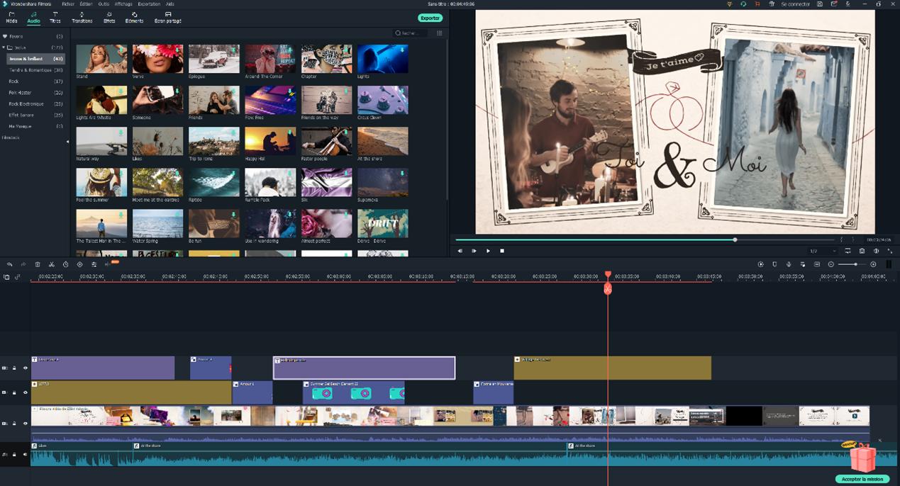 Capture d'écran Filmora Video Editor