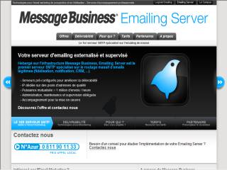 Capture d'écran EMAILING SERVER de Message Business