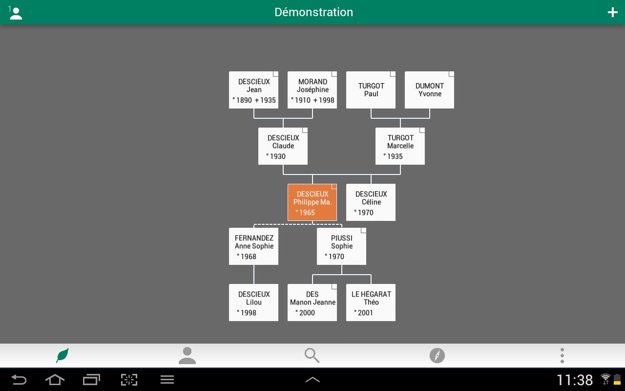 Capture d'écran Généatique iOS