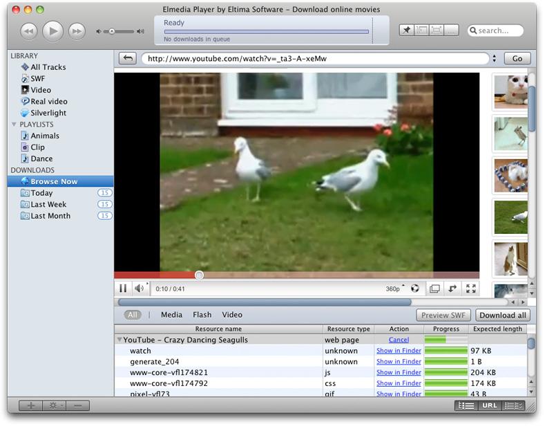 Capture d'écran Elmedia Player