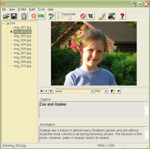 Capture d'écran Quixhibit