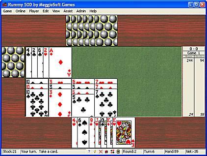 Capture d'écran Rummy 500 by MeggieSoft Games