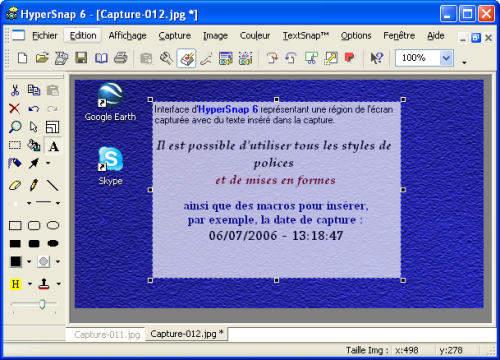 Capture d'écran HyperSnap FR
