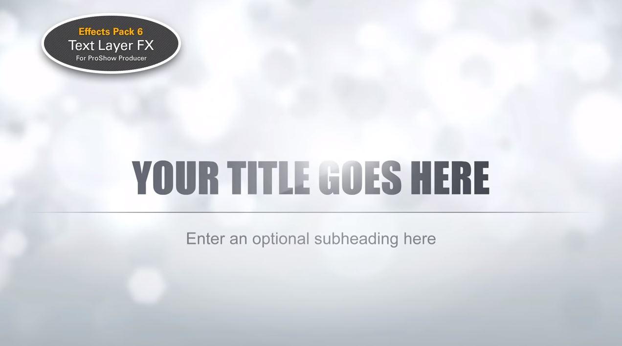 Capture d'écran Pack d'Effets pour ProShow