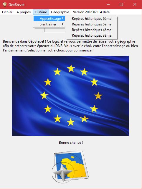 Capture d'écran GéoBrevet