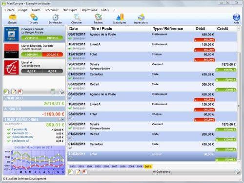 Capture d'écran MaxiCompte