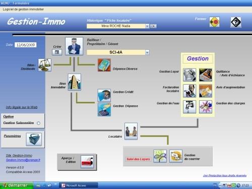 Capture d'écran Gestion-Immo V4.0 Logiciel Gestion Locative Immobilière