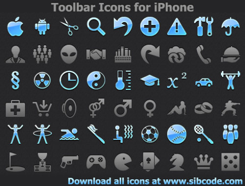 Capture d'écran Toolbar Icons for iPhone