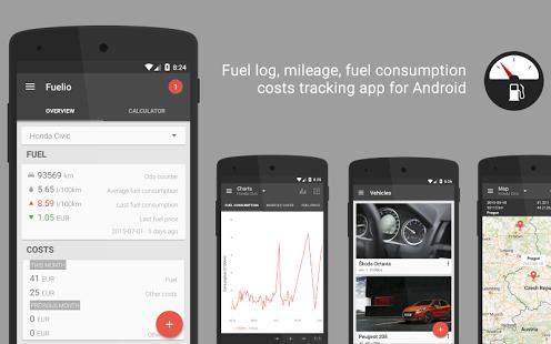 Capture d'écran Fuelio: Fuel log