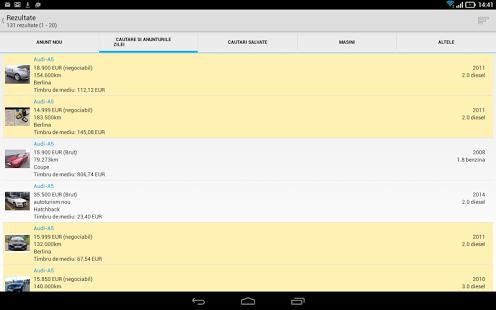 Capture d'écran Autovit.ro
