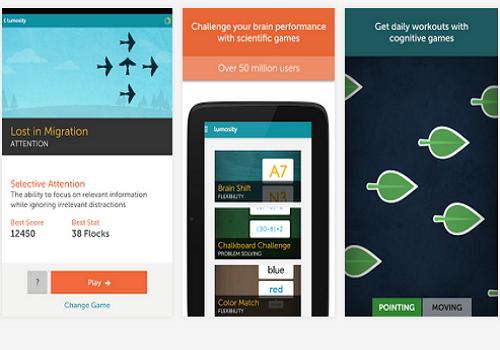 Capture d'écran Lumosity iOS