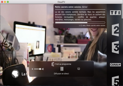 Capture d'écran CloudTV