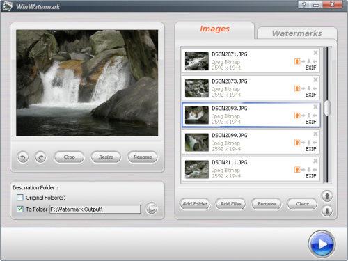 Capture d'écran WinWatermark
