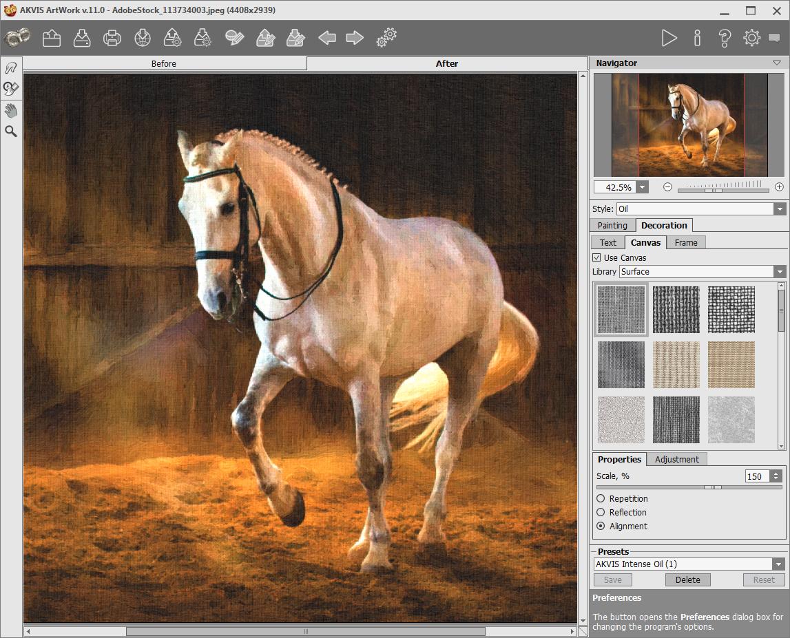 Capture d'écran AKVIS ArtWork