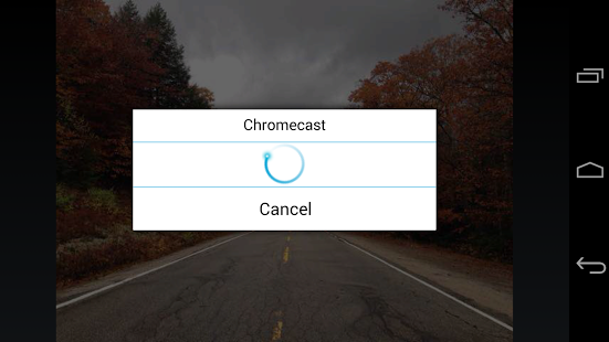 Capture d'écran ES Chromecast plugin