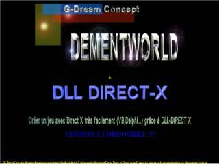 Capture d'écran DLL-DIRECT X