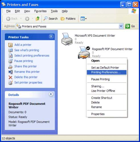 Capture d'écran PDF Document Writer