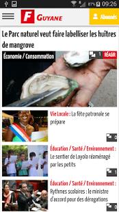 Capture d'écran France-Guyane