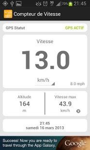 Capture d'écran Compteur de vitesse km/h – mph