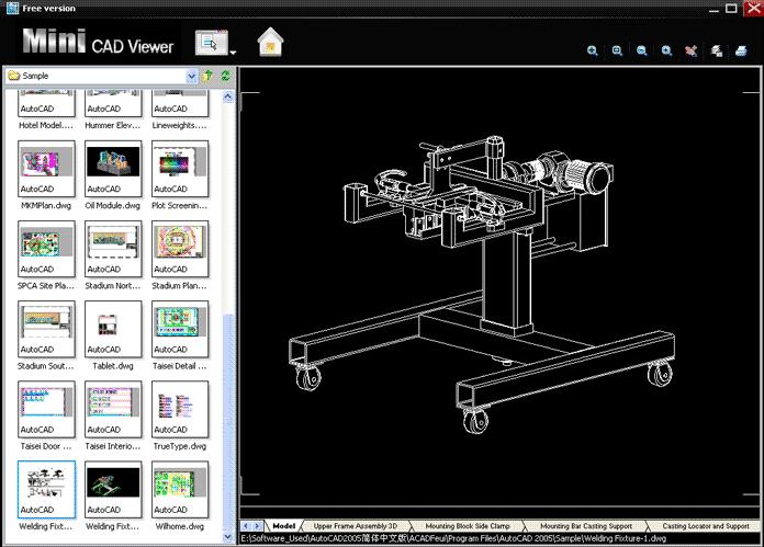 Capture d'écran Mini CAD Viewer