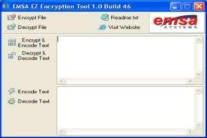 Capture d'écran Emsa EZ Encryption Tool