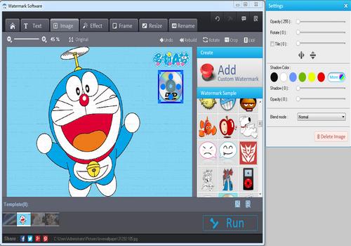 Capture d'écran WonderFox Photo Watermark 8.2