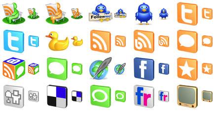 Capture d'écran Free 3D Social Icons