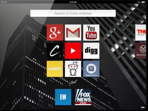 Capture d'écran Opera Coast iOS