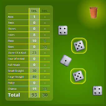Capture d'écran Poker aux dés