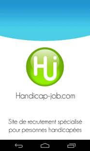 Capture d'écran Handicap Job