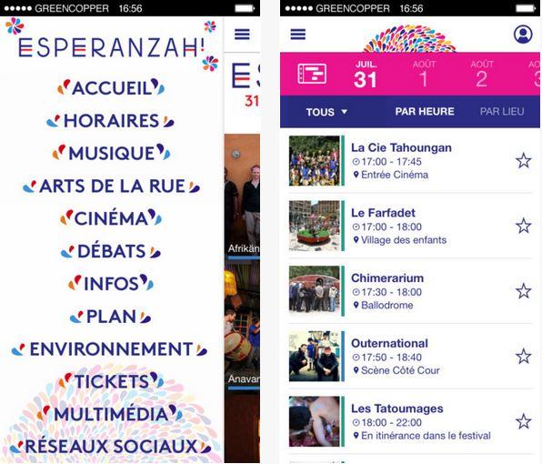Capture d'écran Festival Esperanzah ! iOS