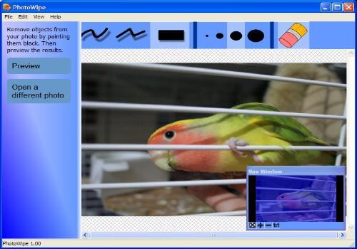 Capture d'écran PhotoWipe