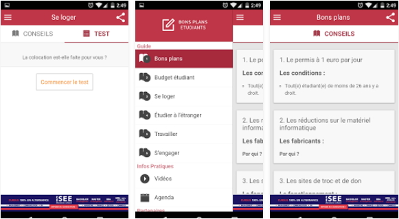 Capture d'écran Bons plans étudiants iOS