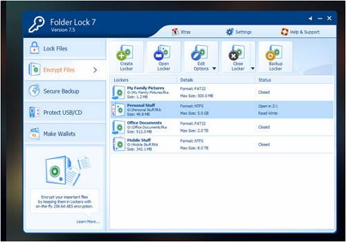 Capture d'écran Folder Lock