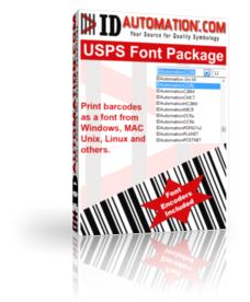 Capture d'écran USPS and Intelligent Mail Barcode Fonts