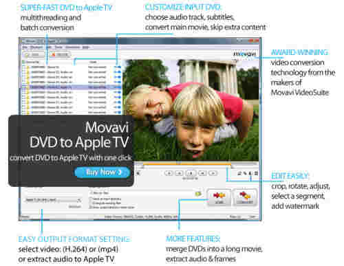 Capture d'écran Movavi DVD to Apple TV