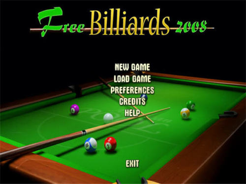 Capture d'écran Free Billiards 2008