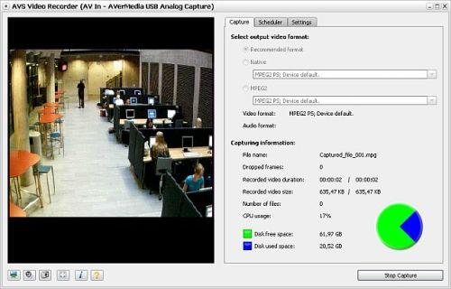 Capture d'écran AVS Video Recorder