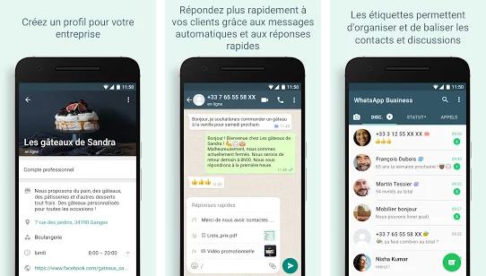 Capture d'écran Whatsapp Business