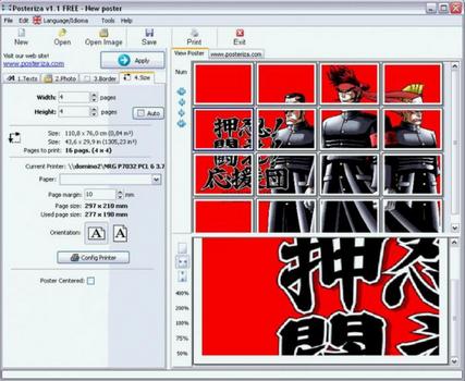 Capture d'écran Posteriza