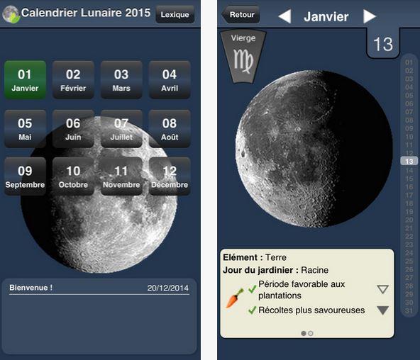 Capture d'écran Calendrier lunaire du jardin iOS