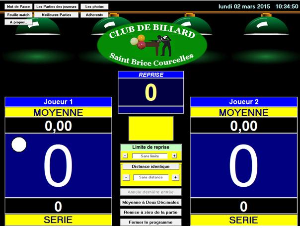 Capture d'écran Compteur billard français V7