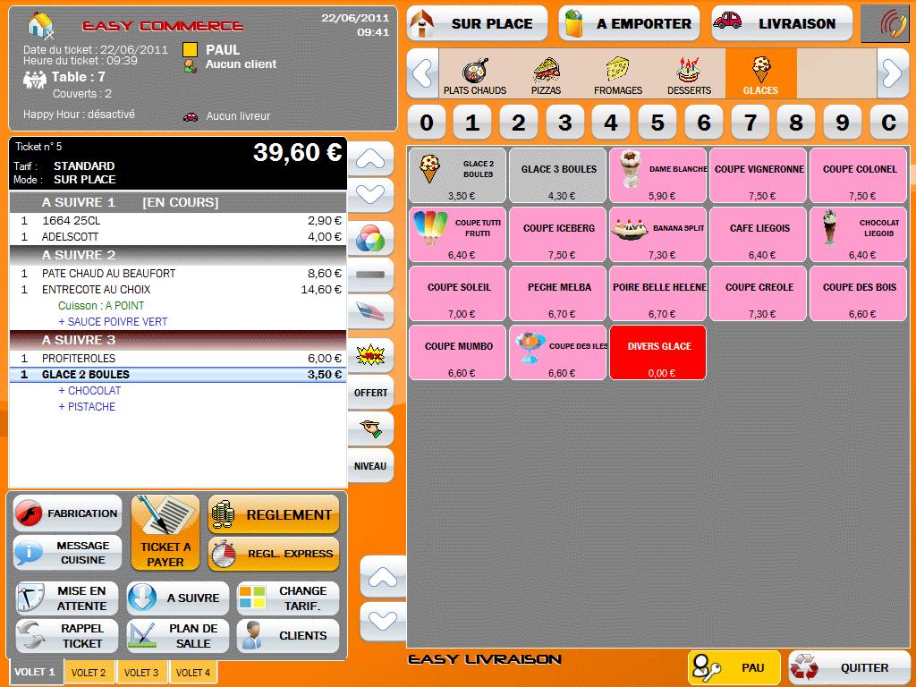 Capture d'écran Easy Resto