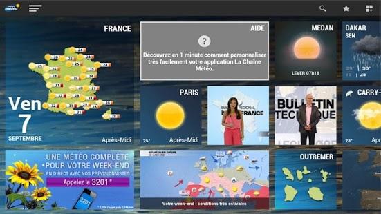 Capture d'écran La chaine météo pour tablette