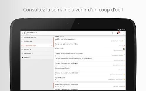 Capture d'écran Todoist: Liste des tâches