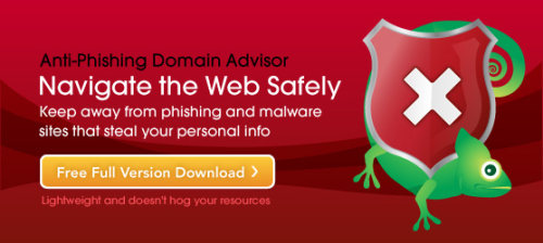 Capture d'écran Anti-Phishing Domain Advisor